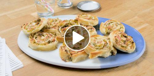 Flammkuchen-Schnecken