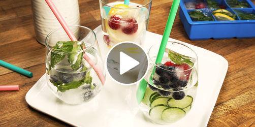 Stylisch: Coole Eiswürfel für Wasser, Säfte und Cocktails