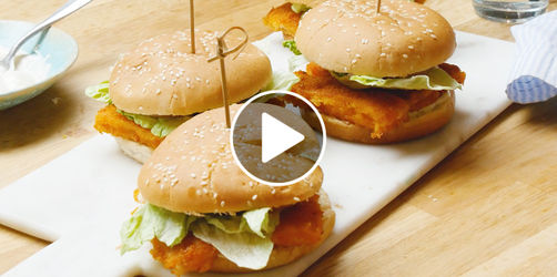 Fischstäbchen-Burger