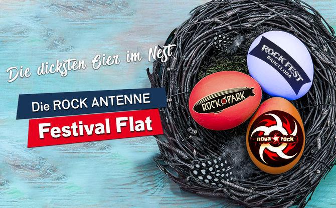 Das dickste Ei im Nest: Holt euch die ROCK ANTENNE Festival Flat!