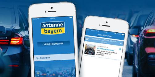 Jetzt downloaden: Die neue ANTENNE BAYERN Verkehrsmelder-App