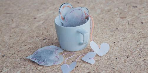 Zum Muttertag: Selbstgemachte Teebeutel