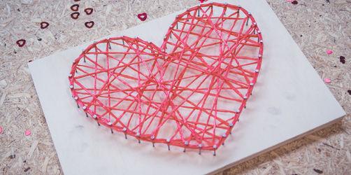 DIY zum Valentinstag: Fadenherz