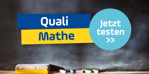 Schaffst du den Quali im Fach Mathe? Teste dich!