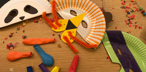 DIY: Lustige Tiermasken aus Papptellern