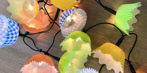 Fasching: Bunte Lichterkette DIY