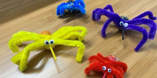 DIY: Halloween-Spinnen basteln