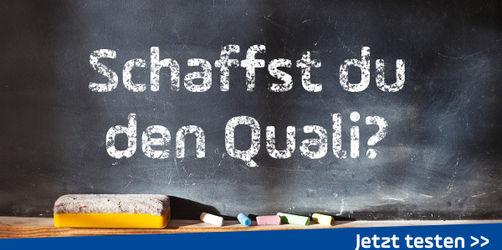 Schaffst du den Schulabschluss? Teste dich im Quali-Quiz!