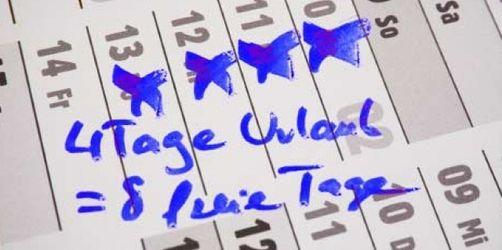 Brückentage 2012: So holen Sie mehr aus Ihrem Urlaub!