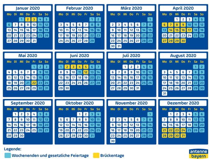 Brückentage 2020 So Holt Ihr Aus 28 Urlaubstagen 61 Freie