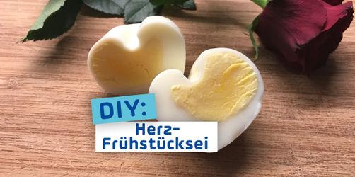 Frühstücksei in Herzform