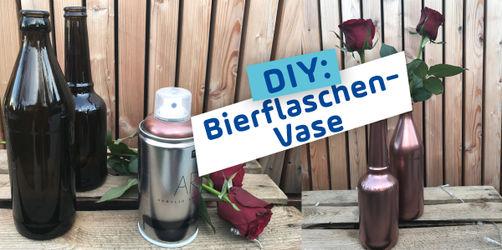 DIY: Bierflaschen-Vase