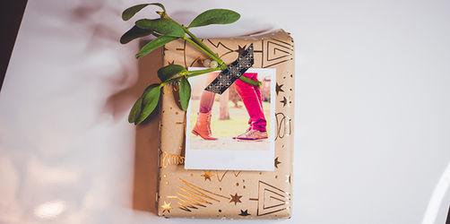 Originelle Geschenkverpackung mit Foto