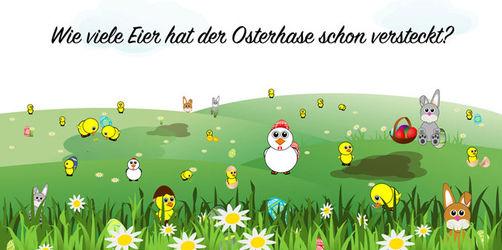 Ostersuchbild: Wie viele Eier hat der Osterhase schon versteckt?