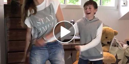 Trend: So geht der BackPack Kids Dance oder Zahnseidentanz