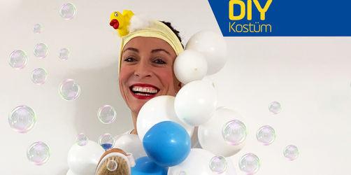 DIY: Last-Minute-Schaumbad-Kostüm