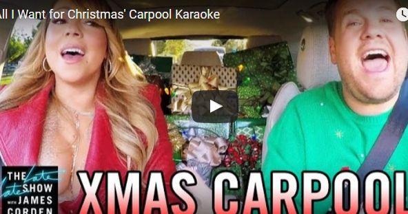 episches carpool karaoke special zu weihnachten mit so. Black Bedroom Furniture Sets. Home Design Ideas