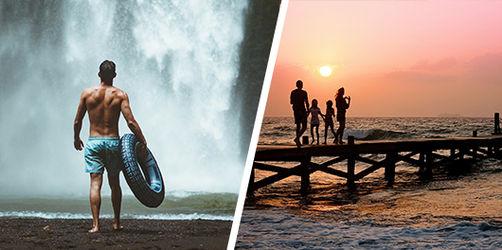 Auf zu neuen Ufern oder jedes Jahr an denselben Urlaubsort? Stimmt ab!