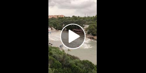 Mini-Tsunami auf Mallorca: Zwei Buchten komplett überschwemmt