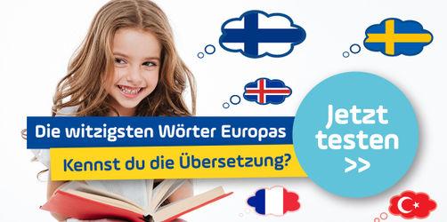Quiz: Kennst du die witzigsten Wörter Europas?