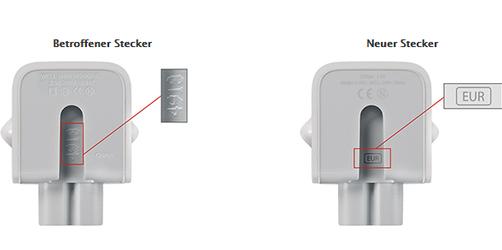 Mac, iPad und iPhone - Apple ruft fehlerhafte Netzstecker zurück