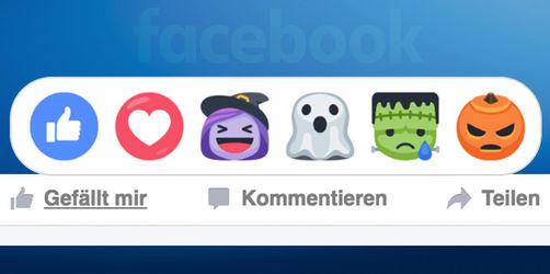 Neue Halloween-Reactions geistern durch Facebook