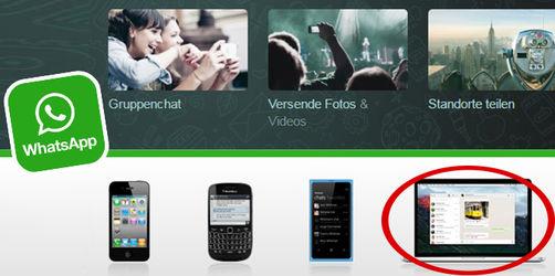 WhatsApp jetzt auch für Windows-PC und Mac