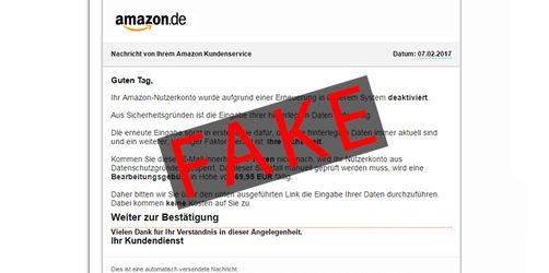 """Abzocke! Vorsicht vor gefälschten """"Amazon"""" Mails"""