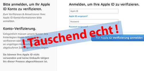 Warnung Apple-ID: Betrüger wollen an Ihr Passwort!