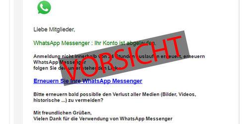 Vorsicht vor dieser WhatsApp-Nachricht! Betrüger wollen an Ihre Kontodaten