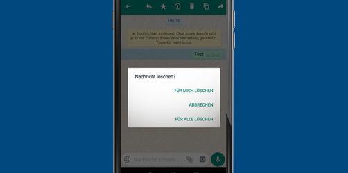 Endlich: Ab jetzt kann man verschickte WhatsApp Nachrichten löschen