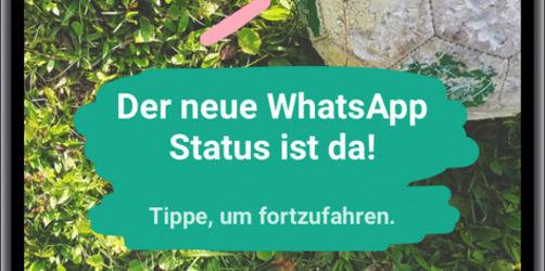 WhatsApp mit neuen Status-Updates