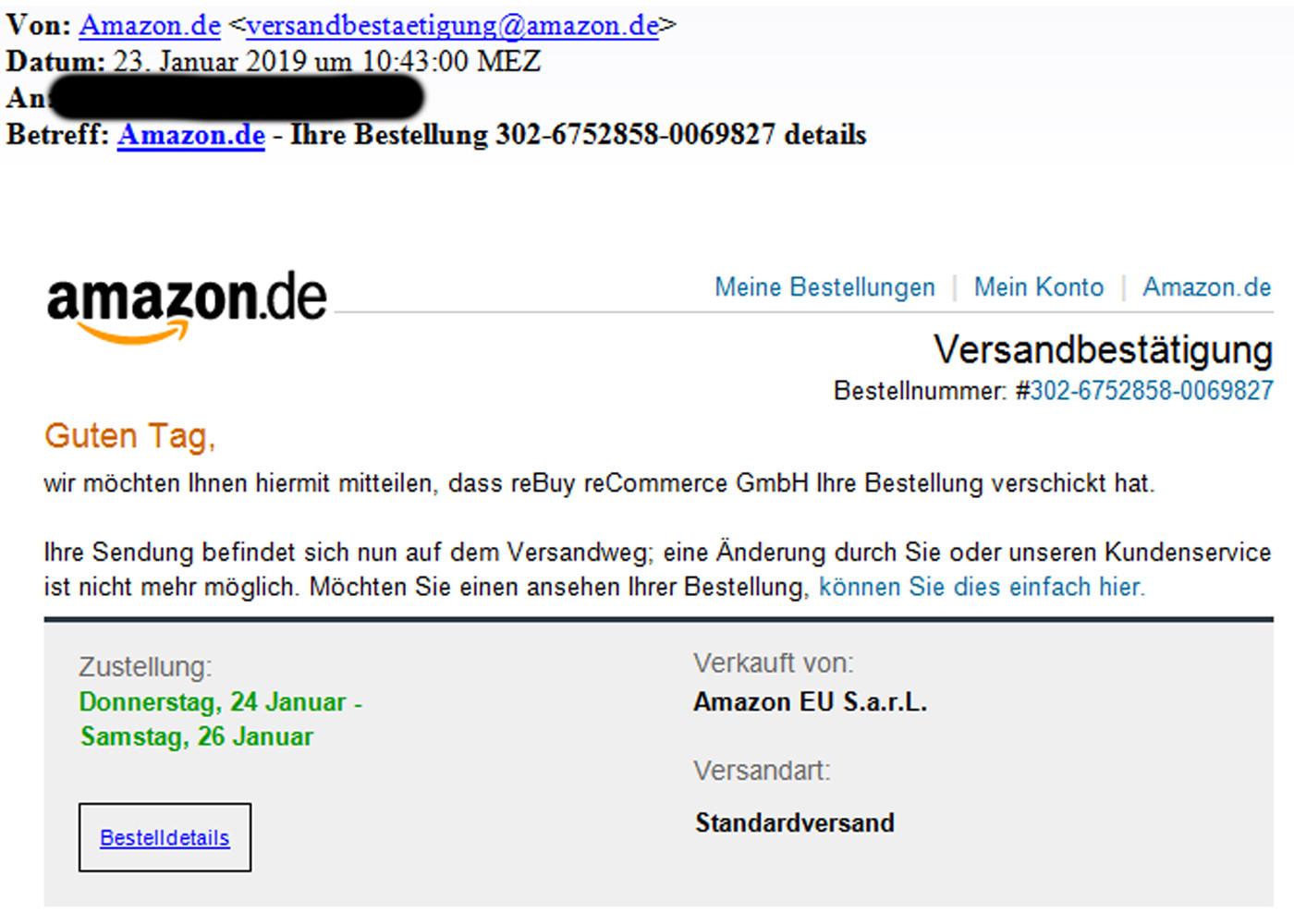 Fake Mails Amazon