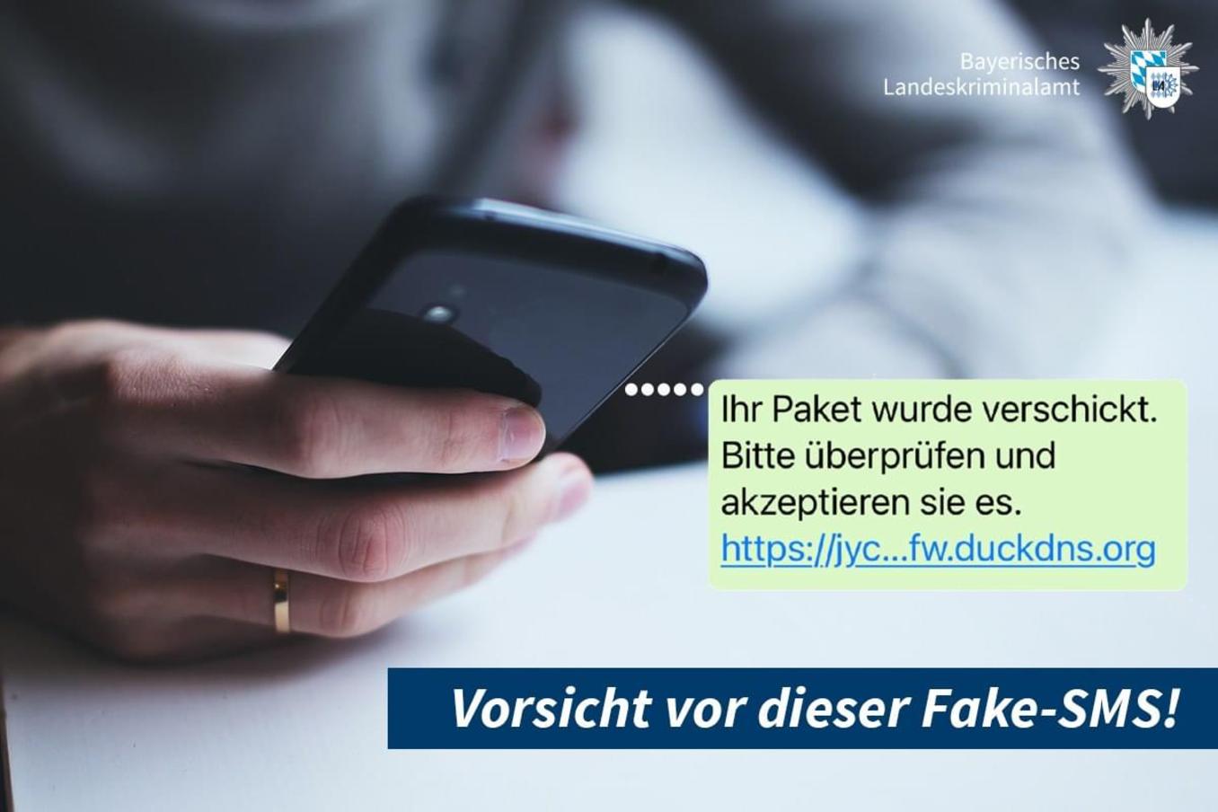 Bayerisches LKA warnt vor dieser Fake-SMS: Darauf solltet