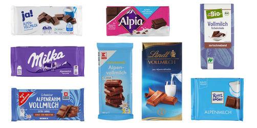 25 Milchschokoladen im Ökotest: In fast allen Tafeln ist Mineralöl, nur 2 sind gut