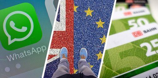 Brexit, BahnCard, WhatsApp: Das ändert sich im Februar 2020