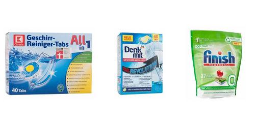 Geschirrspül-Tabs im Test: Günstige Eigenmarken überzeugen