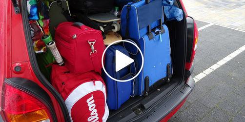 Mit dem Auto in den Urlaub: So verstaut ihr euer Gepäck sicher im Fahrzeug