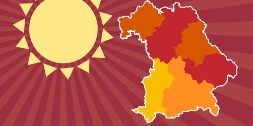 Wie auf Mauritius: So heiß könnte es in Bayern werden