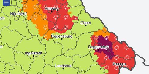 Unwetterwarnungen für Bayern: Checkt eure Region