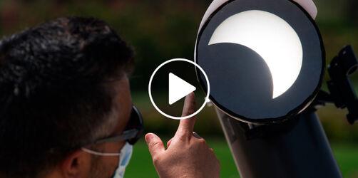 Sonnenfinsternis online sehen: Live-Übertragung aus der Sternwarte Ursensollen