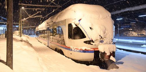 Bahn stellt wegen Schnee Regionalverkehr in Bayern teilweise ein