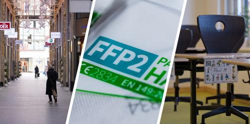 FFP2-Pflicht, Lockdown & Homeschooling: Das gilt ab Montag