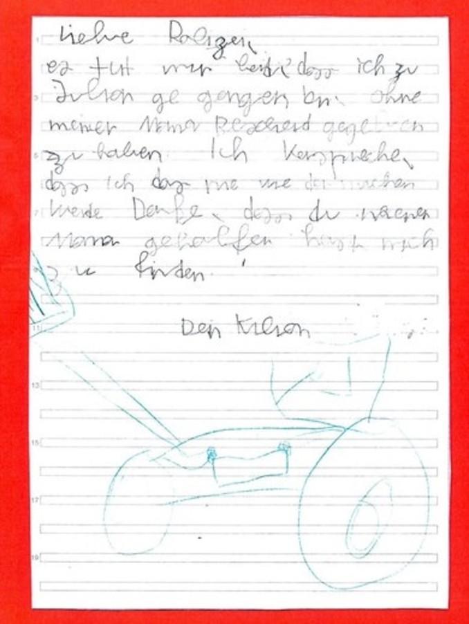 Landau an der Isar: Vermisster Junge bittet Polizei mit süßem Brief ...