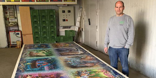 Größtes Puzzle der Welt: Franke schafft das Disney-Panoramapuzzle