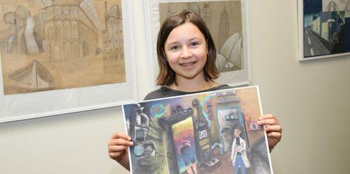 Internationaler Malwettbewerb: Schülerin aus Niederbayern holt Platz 1