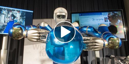 """Oberpfaffenhofen: """"Astro-Alex"""" steuert Roboter vom Weltall aus"""
