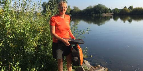 Von Hessen nach Bayern: Frau schwimmt durch den Main zur Arbeit