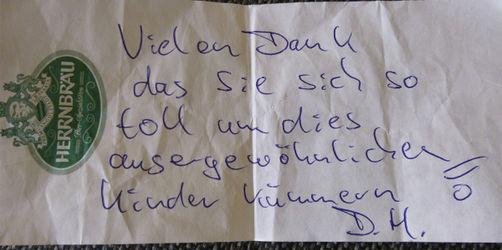 Unbekannter zahlt Zeche von geistig behinderten Kindern in Straubing