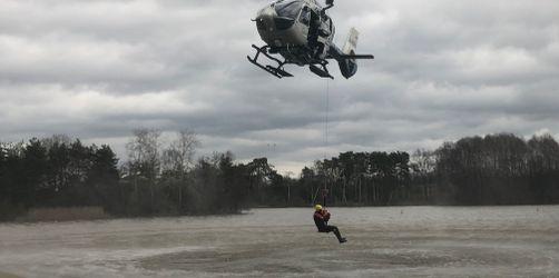 Hilfe aus der Luft erleichtert: Polizeihubschrauber haben neuen Rettungssitz